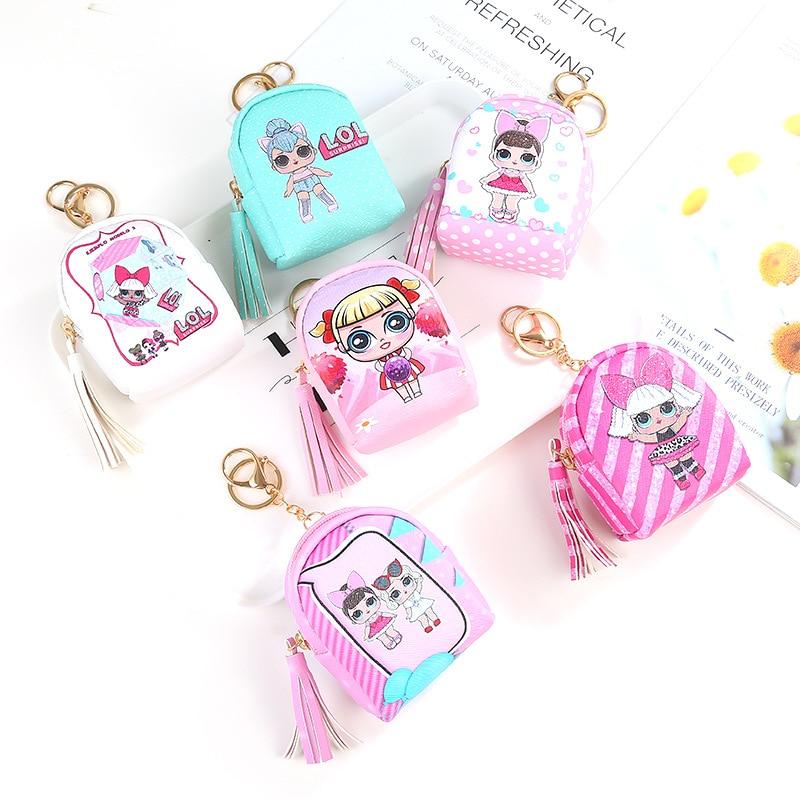 Original LOL Surprise Doll Bag Children Purses Small Fresh Casual Pu Coin Wallet Lady Fashion LOL Doll Cartoon Dollar Money Bag