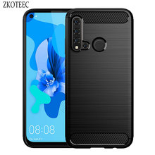Silicone Case For Huawei P20 Lite Pro ShockProof Fitted Carbon Fiber Soft TPU Phone Cover 2019