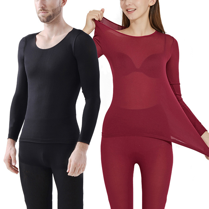 Thermal-Underwear Clothing Long Winter for Women Sexy Warm Seamless title=