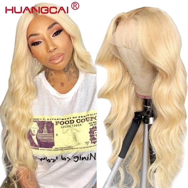 Mittelteil 613 Blonde Spitze Teil Menschliches Haar Perücke Pre Gezupft 150% Brasilianische Körper Welle Honig Blonde 13x1 spitze Perücken Remy Menschenhaar