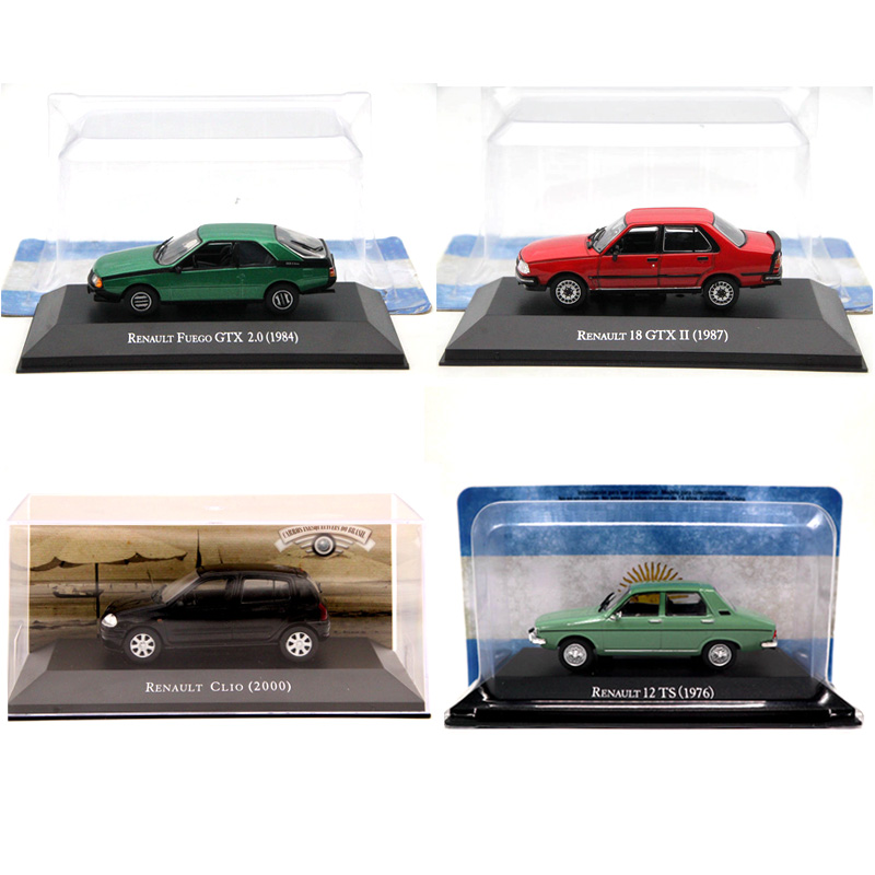 IXO Altaya 1:43 Renault 18/12/Fuego GTX/Clio Diecast Models Limited Edition Collection Toys Car Miniature