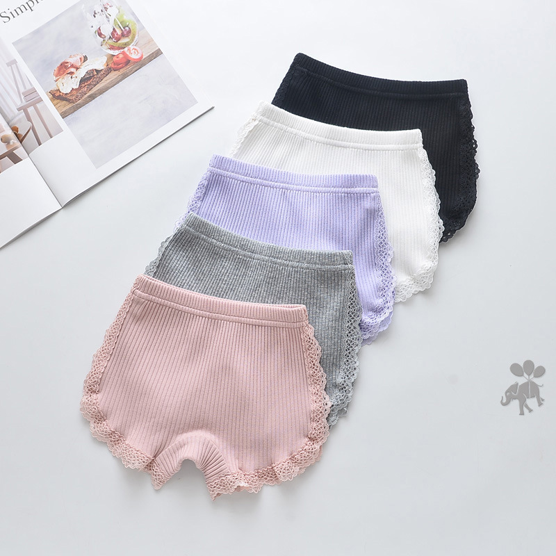 100% Cotton 2020 New Girls Lace Shorts Top Quality Pink Girl Safety Pants Underwear Shorts Cute Briefs For Kids 3-13 Years Old