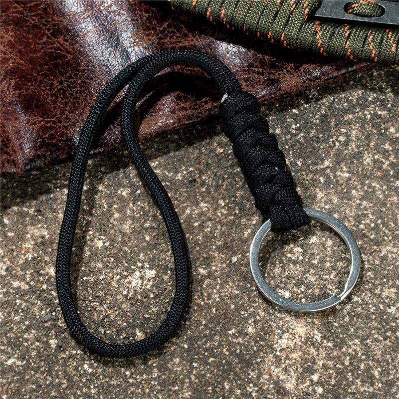 IKAAR 5 portachiavi in pelle PU intrecciata corda intrecciata portachiavi uomini donne corda portachiavi fai da te borsa ciondolo portachiavi portachiavi regalo