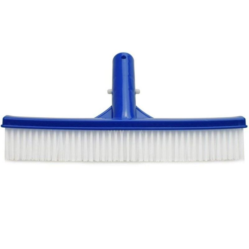 Swimming Pool Cleaning Flat Brushes 10 Inch Plastic Bristle And Clips Cleans New