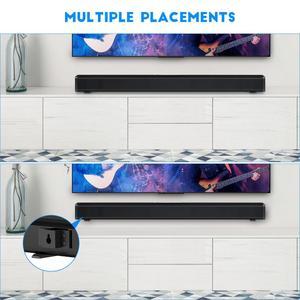 Image 4 - テレビサウンドバー 60 3w の bluetooth スピーカースタイリッシュなハイファイホームシアターシステムサウンドバー 3D ステレオサラウンドサポート光学/aux/tf カード/usb