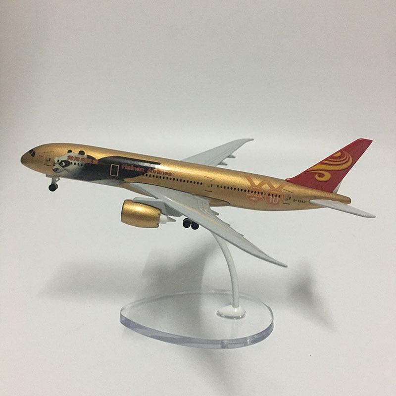 JASON TUTU Plane Model 16cm China Hainan Airlines Boeing B787 Airplane Model Aircraft Model 1:400 Diecast Metal planes toy