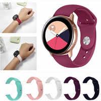 Silicone strap for Galaxy Watch Active 42mm 20mm Watch Strap Bracelet Samsung Gear Sport S2 amazfit bip Smart watchbands