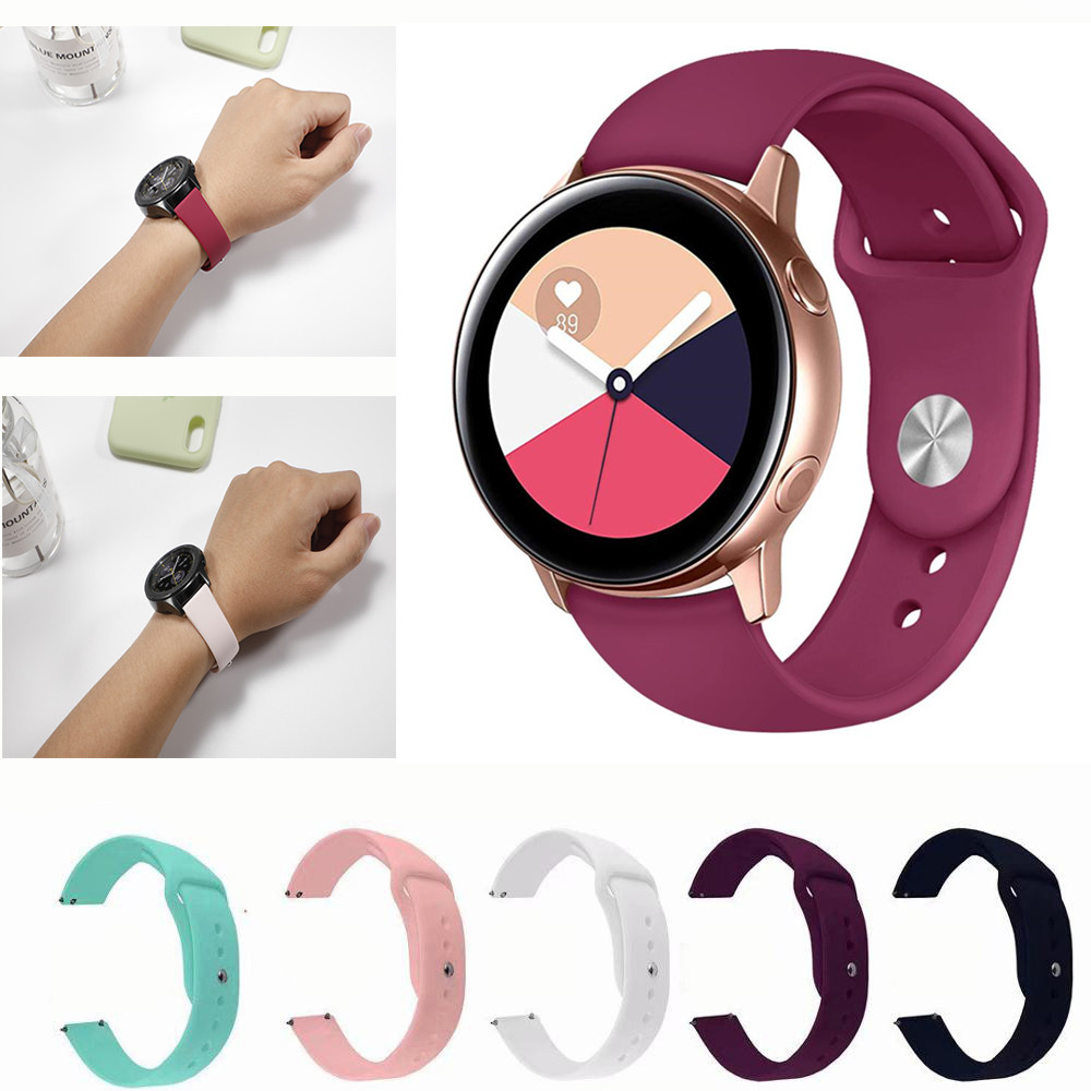 Silicone Strap For Galaxy Watch Active 42mm 20mm Watch Strap Bracelet Samsung Gear Sport S2 Amazfit Bip Smart Watchbands