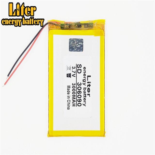 3.7V / lithium polymer batteries 306090 / containing 3000mAh / 7 inch Tablet PC Universal Battery LI 286090
