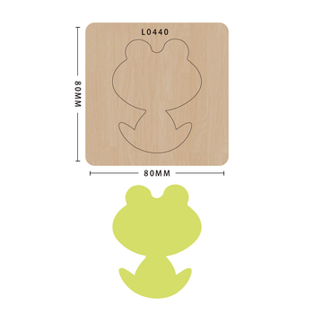 SMVAUON notatnik Die Cut Cute Frog DIY handmade nowe matryce do 2020 drewniany szablon do wycinania formy do wykrawania drewna Die tanie i dobre opinie Zwierząt Leather Tools
