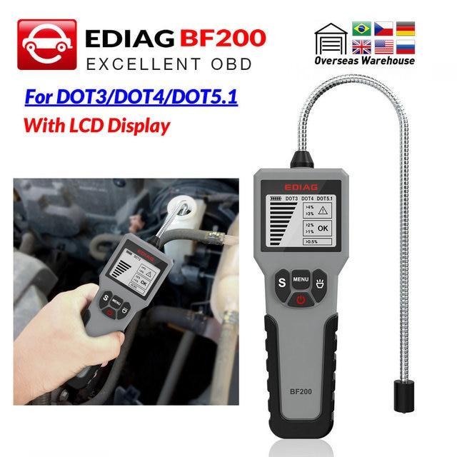 EDIAG Auto Brems Flüssigkeit Tester BF100 BF200 für DOT 3 DOT4 DOT 5,1 Hohe auflösung LCD Display Genaue Öl Qualität überprüfen Tester