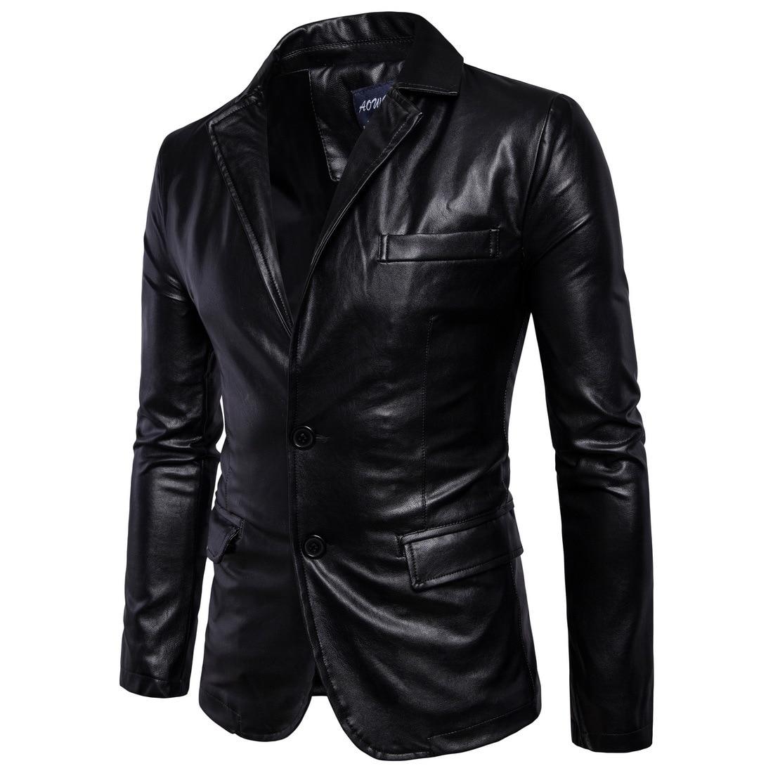 [Code] European 2019 Spring And Autumn New Style MEN'S Leather Coat England Men'S Wear Locomotive Leather Coat B011