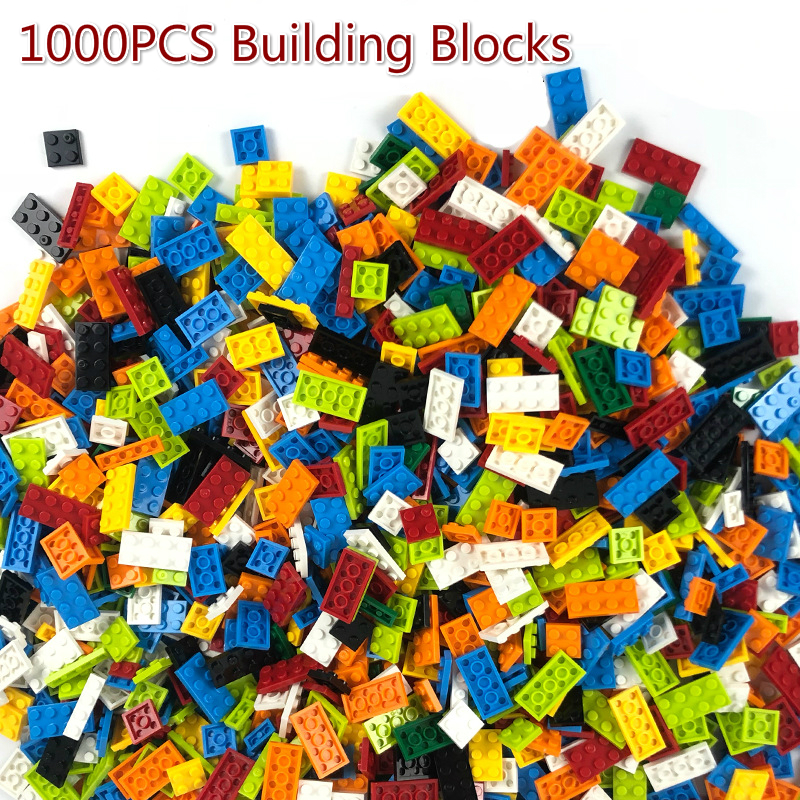<font><b>1000</b></font> <font><b>PCS</b></font> Building Blocks Bricks DIY Creative Bricks Bulk Model with Figures Compatible City Friends Educational Kids Toys image