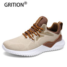 GRITION Men Sneakers Running Shoes For Men Outdoor Breathable Mesh Trekking Shoes New Arrival Summer Light Jogging Sneakers(China)