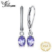 Genuine Tanzanite Lever Back Drop Earrings 925 Sterling Silver Earrings For Women Gemstones Korean Earings Fashion Jewelry 2019