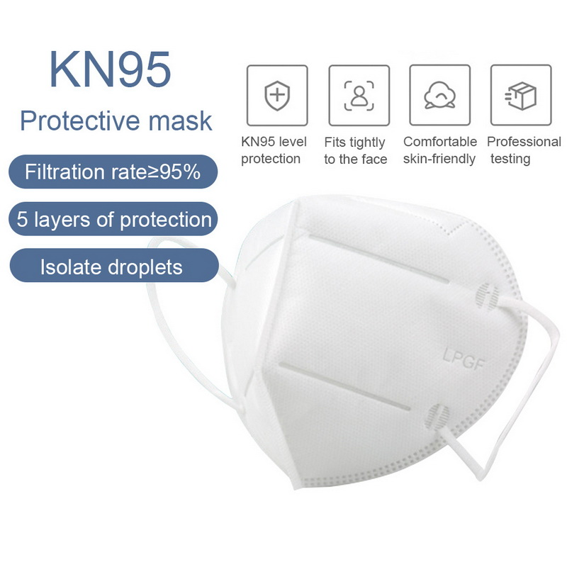 100pcs KN95 Dustproof Anti-fog And Breathable Face Masks  Filtration Dust Mouth Masks Mascaras