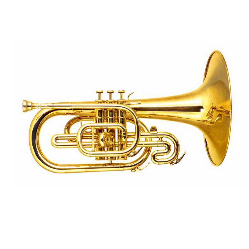 Купить с кэшбэком F Key Marching Mellophone With case mouthpiece Yellow Brass mellophone horn musical instruments