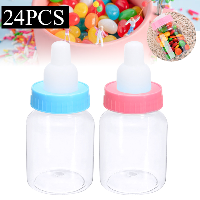 Children Birthday Party Transparent Plastic Pacifier Shape Chocolate Candy Box