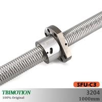 TBI Motion SFU3204 C3 Ground Ball Screw 1000mm Professional end machining thread shaft High Precision Flange CNC accessories