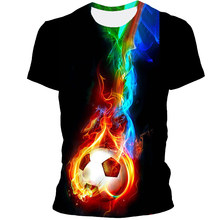 Football Is a Sport That Children Like. The Clothing Is Suitable For Men, Boys, Children's Casual Short-Sleeved 3DT Shirts