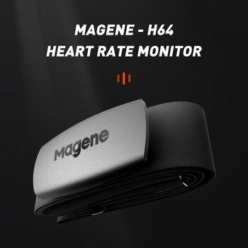 جهاز كمبيوتر للركض للدراجة من Magene موديل جديد H64 Bluetooth4.0 ANT  مستشعر معدل ضربات القلب متوافق مع GARMIN Bryton IGPSPORT