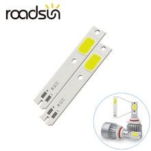 2 шт., чипы COB для C6 светодиодных автомобисветильник фар H1 H4 H7 HB3 HB4 880 H13 9004 9007, источник света для автомобильных фар, чип C6 COB 6000K
