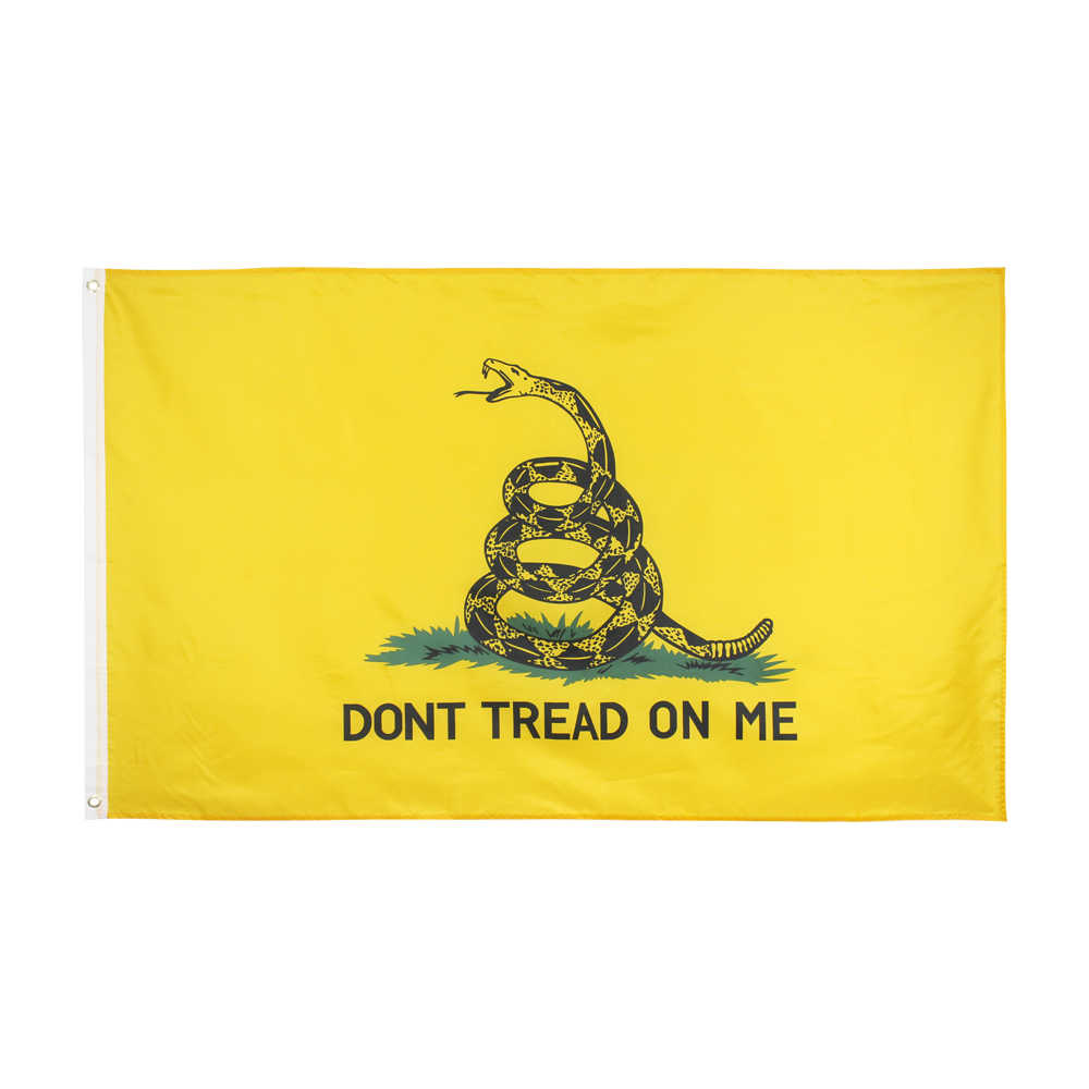 Xiangying 90x150cm tee party rattlesnake gadsden-flagge