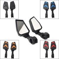 Motorcycle Side Mirrors UTV Rearview Mirror 1.75 Clamp Bar For Polaris RZR Ranger Yamaha Rhinos Universal