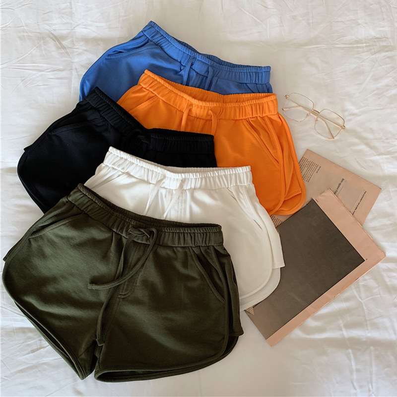 Women Short Pant Casual Solid Lady High Waist All-match Loose Soft Waistband Short Female Workout Skinny Stretch Shorts