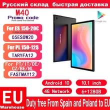 Teclast M40 10.1 cala Octa Core podwójna sieć 4G Android 10.0 tablety telefoniczne 1920x1200 6GB RAM 128GB ROM T618 Tablet GPS PC