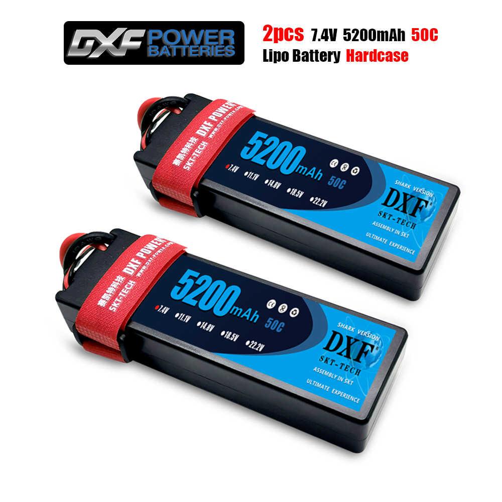 2PCS DXF Lipo 배터리 2S 4S 7.4V 14.8V 50C-100C 하드 케이스 리튬 폴리머 RC 자동차 보트 드론 로봇 FPV 트럭