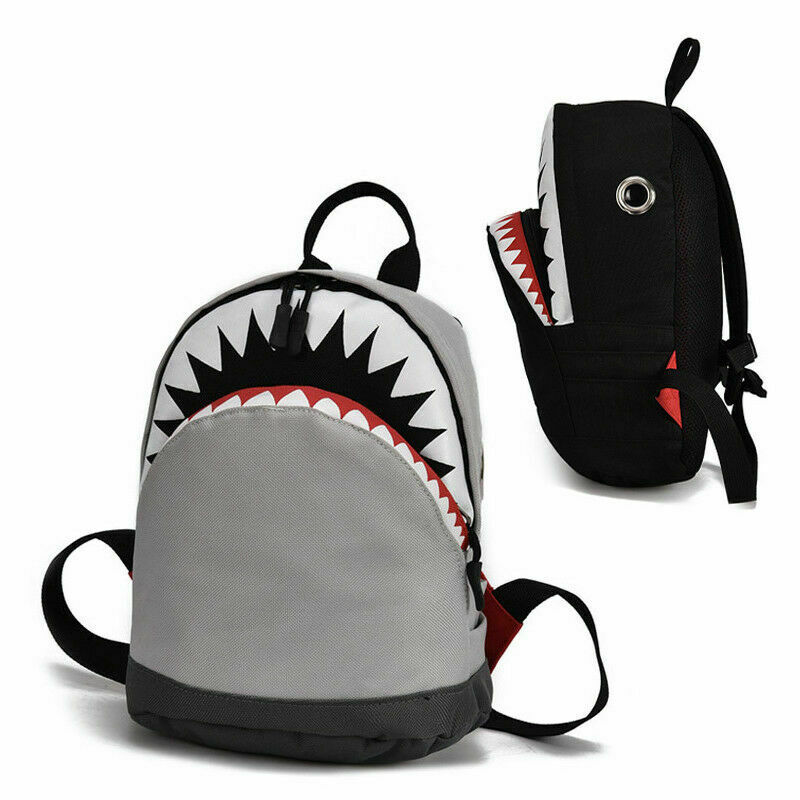 2019 New Cute Baby School Bag Cartoon Shark Backpack Student Boy Girl Universal Casual Shoulder Bag