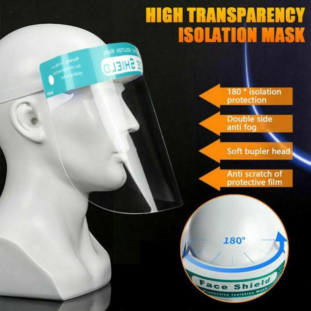 HOT HD Clear Anti-Saliva Mask Transparent Safety Faces Shields Screen Spare Visors Head Face Respiratory Tract Masques 1