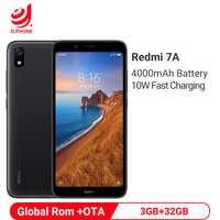 """Xiaomi Redmi 7A 3GB 32GB смартфон 5,45 """"Snapdragon 439 4000mAh аккумулятор 12MP камера глобальная Rom 4G мобильный телефон"""