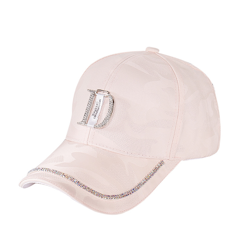 2020 New Metal Letter M Women Baseball Cap Breathable Mesh Outdoor Adjustable Embroidered Rhinestone D Mark Hats Summer Sunhat01