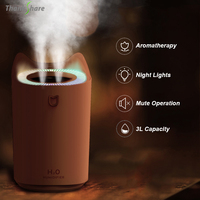 THANKSHARE 3000ml Luftbefeuchter Aroma Diffusor Doppel Nebel Aromatherapie-luftbefeuchter USB Nebel Maker Fogger Für Auto Home Office