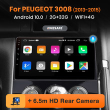 AWESAFE PX9 para Peugeot 3008, 2013 - 2015 auto Radio Multimedia reproductor de Video GPS de navegación No 2 din DVD Android 10