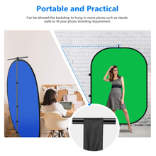 Chromakey Green Chromakey Blue Collapsible Backdrop Collapsible Reversible Background 5'x7'/150×200 cmChroma-Key Blue/Green