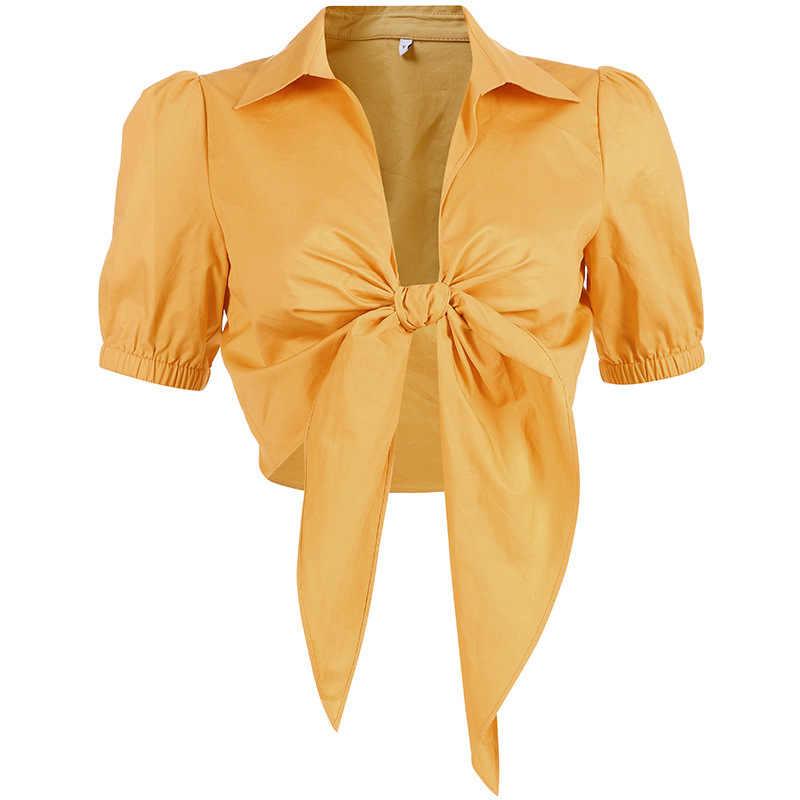 И Соединенные Штаты летом 2019 года разорвали сексуальный желтый подол с короткими рукавами, завязанные рубашки и для женщин