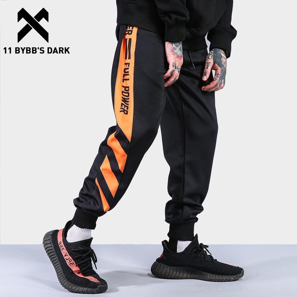 11 BYBB'S DARK Side Striped Patchwork Harem Pants Men Color Block Casual Joggers Harajuku Sweatpants Male Sweatpants Streetwear