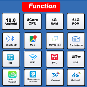 "Image 2 - Bonroad 7""2Din Android 9.0 Car dvd For suzuki grand vitara 2007 2013 Stereo gps navigation car radio USB audio video player"