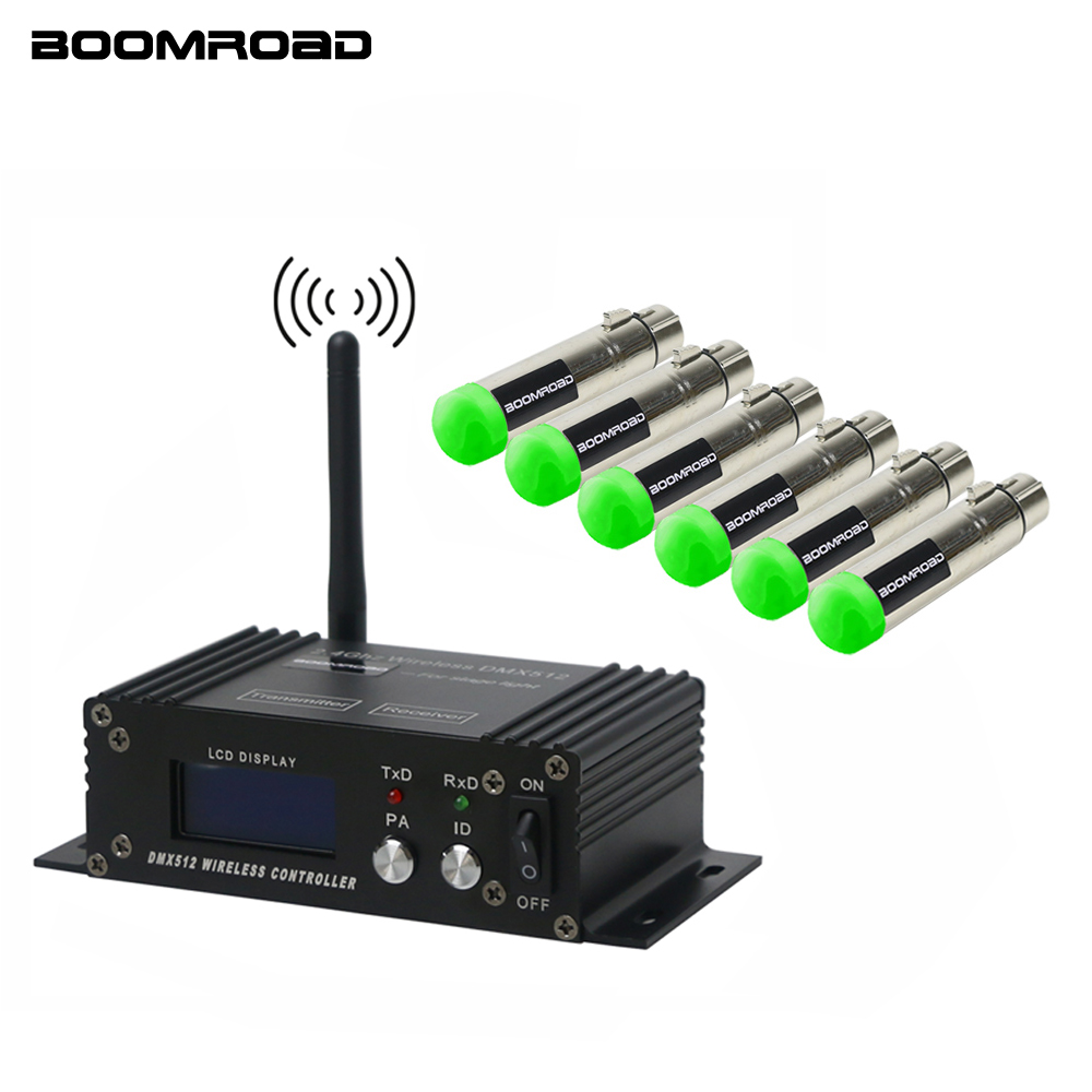 2.4G ISM Wireless DMX 512 LCD Controller And XLR Receiver Transmitter For Disco DJ Party Bar Stage PAR Moving Head Laser Light