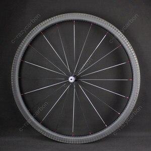 Image 5 - מיוחד בלם 12k גימור טיפוס קדמי אחורי פחמן כביש אופניים גלגלים עם Novatecs AS61cb/FS62cb פחמן רכזות ישר למשוך