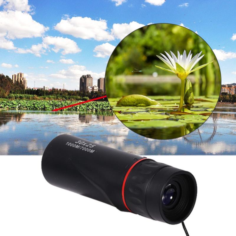 30x25 Mini Night Vision10x Zoom Focus Optical Monocular Telescope Protable Outdoor Telescope Pocket Monocular Telescope