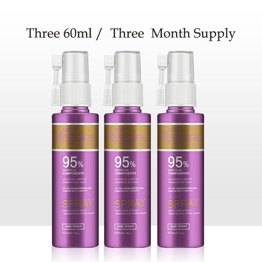 60 ml cheveux croissance Essence Spray pour Anti perte de cheveux huile rapide épaissir les cheveux traitement topique aide pour les femmes Solutions de soins capillaires