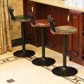 Промышленный винтажный деревенский Ретро поворотный барный стул кафе стул со спинкой ресторан бар кафе украшение для дома кухни