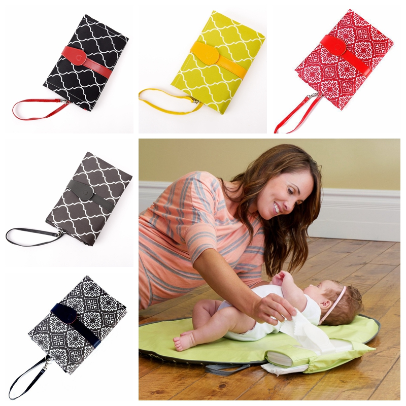 Waterproof Baby Diaper Changing Mat Sheet Portable Nappy Changing Pad Travel Table Changing Station Diaper Clutch Care Products