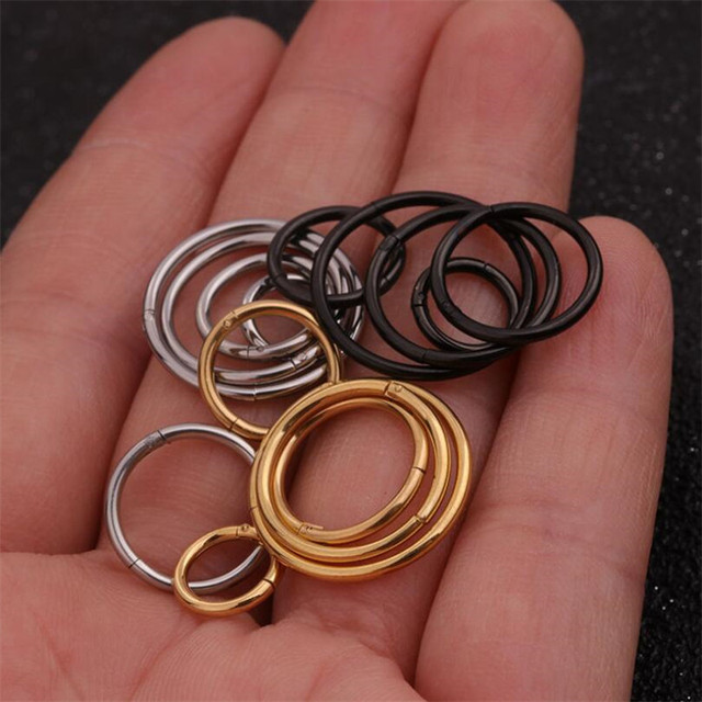 1pc 6 8 10 12 14 16mm Hoop Cartilage Earring Helix Tragus Daith Conch Snug Ear.jpg 640x640 - 1pc 6/8/10/12/14/16mm Hoop Cartilage Earring Helix Tragus Daith Conch Snug Ear Piercing Body Jewelry Huggie Nose Nostril Ring