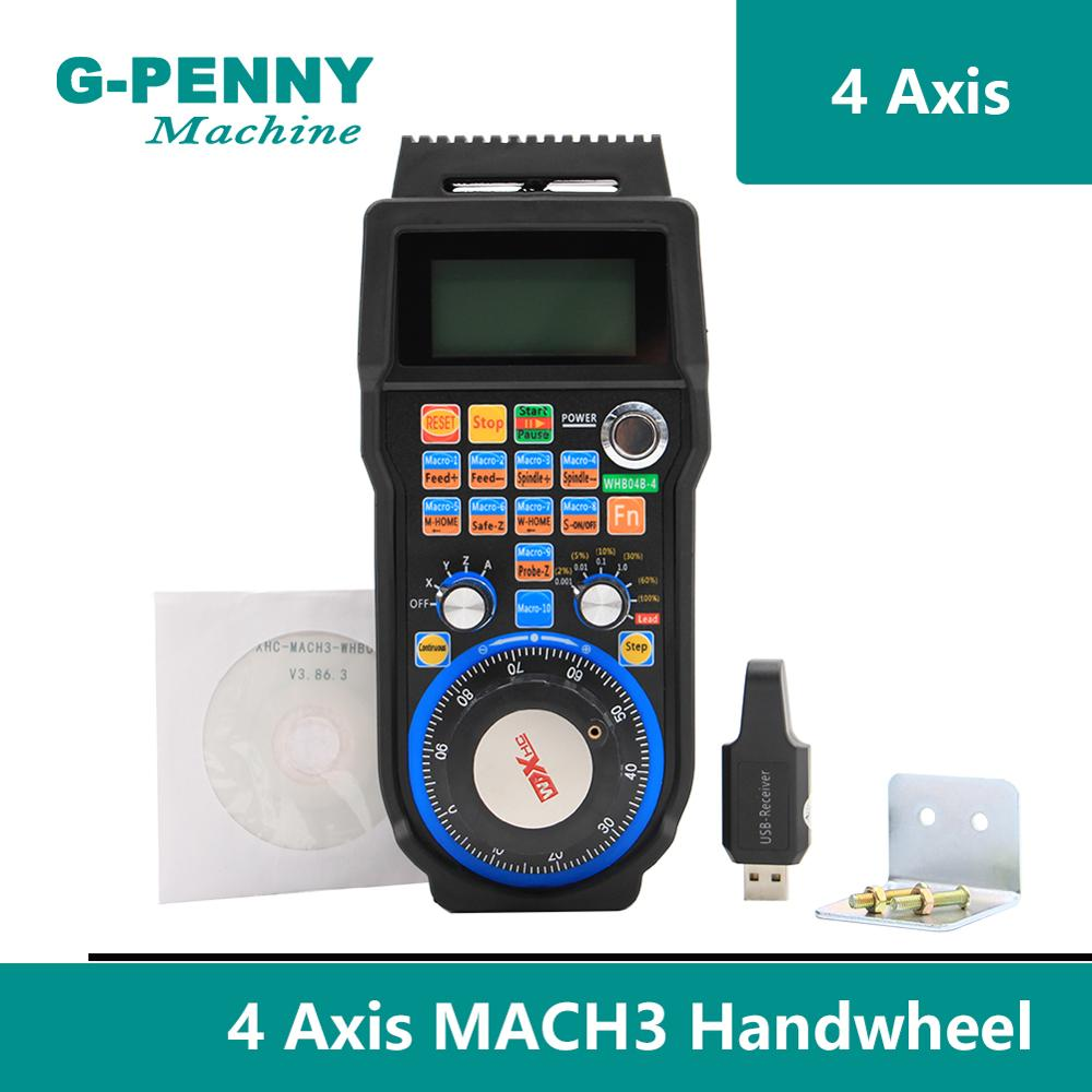 Free Shipping ! 4Axis/ 6Axis MACH3 CNC USB Wireless Hand Wheel MPG Generator Pendant Receiver 40 Meters Transmission !
