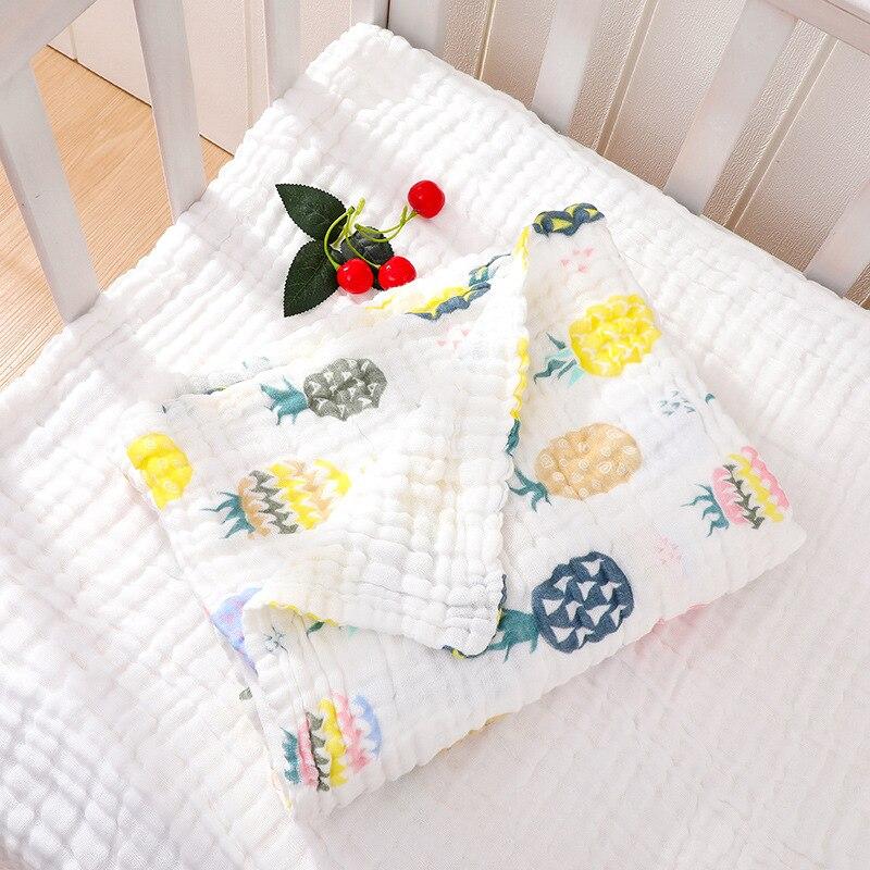 Pure Cotton Class A Six-layer Gauze Children's Quilt Pleated Seersucker Blanket Baby Bath Towel Infants Gro-bag Gauze Bath Towel